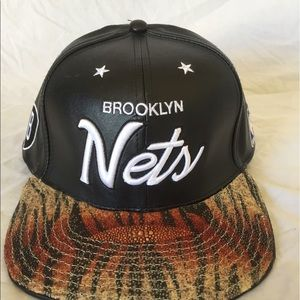 Other - Brooklyn Nets Stingray Leather Hat
