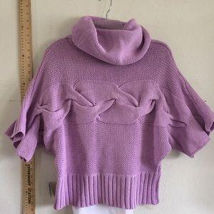 kenzie Tops - NWT Best cotton sideways lavender knit sweater new