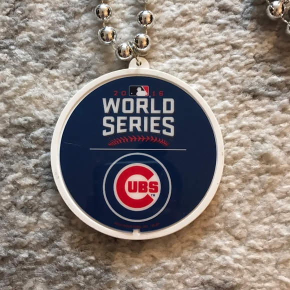 chicago cubs world series pendant bead necklace from cara