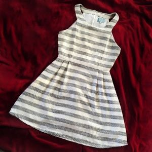 Skies Are Blue Dresses - Skies are Blue Striped Flare Dress
