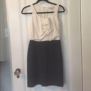 LOFT black and white cocktail dress
