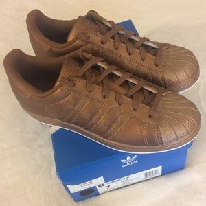 adidas Shoes - New womens bronze  Adidas Superstars, size 7