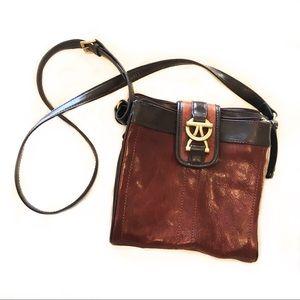Tignanello Handbags - Brown Leather Tignanello Crossbody Purse