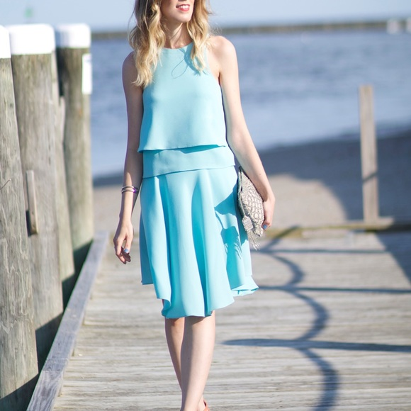 Tibi Dresses & Skirts - Tibi aqua dress