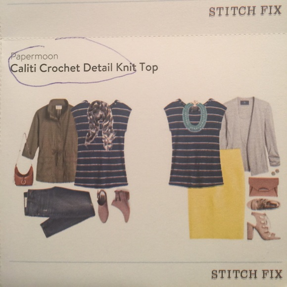 38% off Papermoon Tops - Stitch Fix Papermoon Caliti Knit Top Blue from Danit...