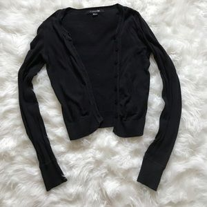 Forever 21 black button down cardigan