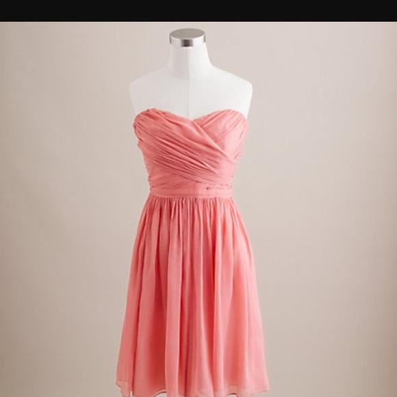 685123311cab7 J. Crew Dresses | Jcrew Arabelle Silk Chiffon Dress Bright Coral ...