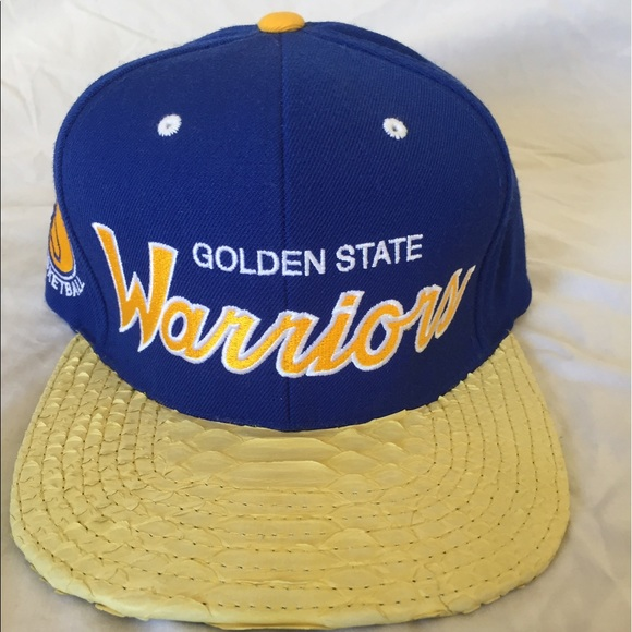 Mitchell Ness Golden State Warriors Snakeskin Hat a8e0dc779ab7
