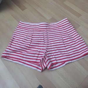 J. Crew Striped Shorts red and white