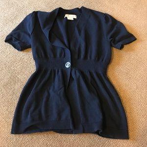 Michael Kors black short sleeve sweater