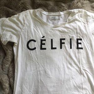 "Sincerely Jules Tops - Sincerely Jules ""Celfie"" Tee"