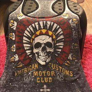 Affliction Tops - Affliction burn out tank