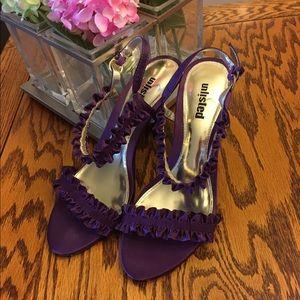 Unlisted Shoes - Sassy Purple Ruffled Heels - EUC