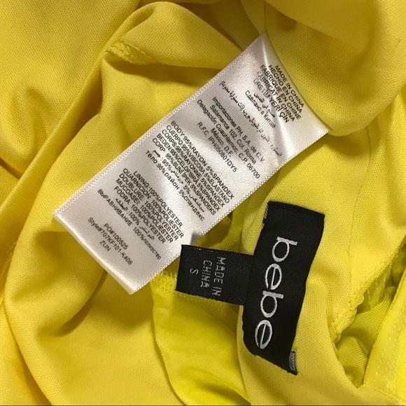 Bebe neon yellow dress