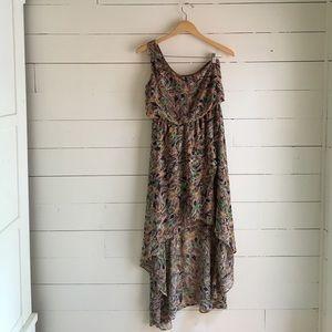 Judith March Dresses & Skirts - Peacock asymmetrical dress