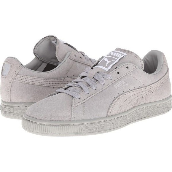 authentic quality new photos cheapest Puma Shoes | Grey Suede Classic Matte Shine Sneaker | Poshmark