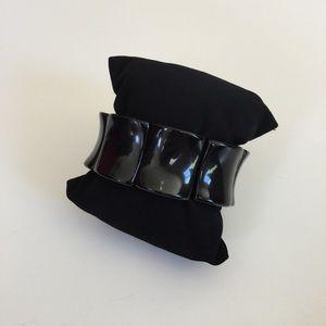 Jewelry - REAL Onyx Square Linked Elastic bracelet