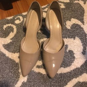 """Adrienne Vittadini Shoes - Pointed Nude 3"""" Pumps with arch cutout"""