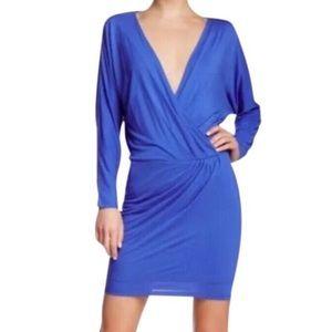 HAUTE HIPPIE, Cobalt Blue Long Sleeve Dress