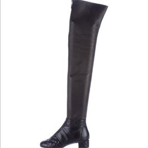 chanel knee high boots. chanel thigh high boots chanel knee h