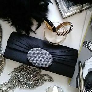 Black Satin Evening Clutch/Purse