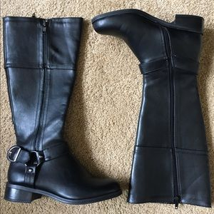 Soda Shoes - Black Leather Riding Boots