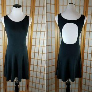 Brandy Melville Dresses & Skirts - Brandy Melville black open back flared tank dress