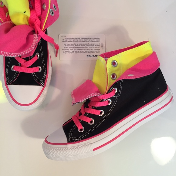 Converse Double Tongue High Top Sneakers NWT