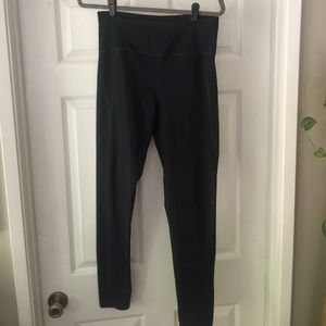 Black compression workout pants