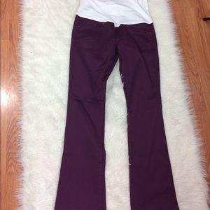 GAP Pants - GAP maternity purple full panel pants
