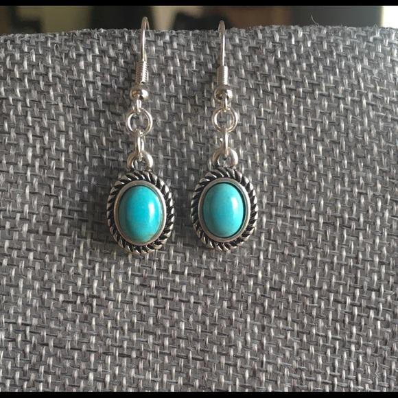 Handmade Jewelry - Handmade Silver and Turquoise Earrings