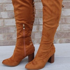 Shoes - Knee high heeled boots! New with Box.