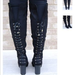 Shoes - Knee high heeled boots. New with box!