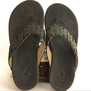 OluKai Other - Olukai Poland leather flip flops