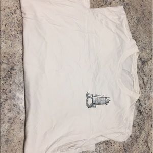 Lands End White T