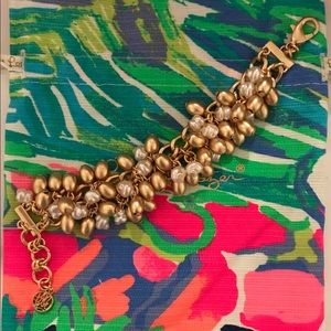 Lilly Pulitzer Jewelry - NWT Lilly Pulitzer Gold & Pearl Bracelet
