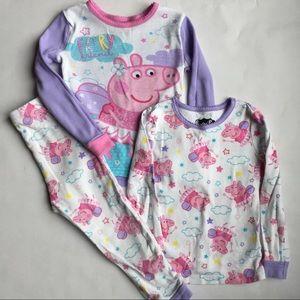 Peppa Pig Other - Peppa Pig Pajama Set 3T