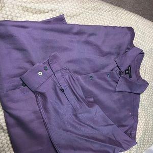 Castagne purple dress shirt.   3x big