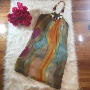 Catherine Malandrino Dresses & Skirts - Catherine Malandrino 100% Silk Halter Dress