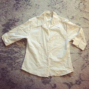 White Adolfo button-down dress shirt