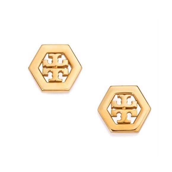 a677093d6557 🎉Sale🎉NWT Tory Burch hex-logo stud earrings