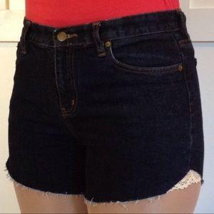 Pants - Ralph Lauren Cut Off Shorts Crochet Embellished