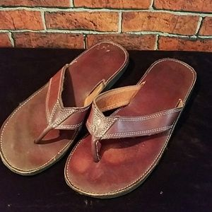 Other - Mens genuine leather flip flops