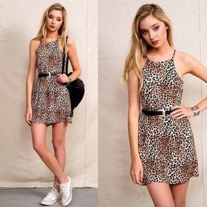 Urban Renewal High Neck Animal Print Dress