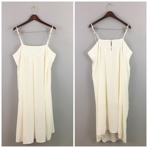 who what wear Dresses & Skirts - Who What Wear Ivory Flowy Pleated Maxi Tank Dress