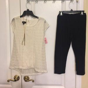 Amy's Closet Other - Amy's closet girl 2pcs top and leggings set L(14)