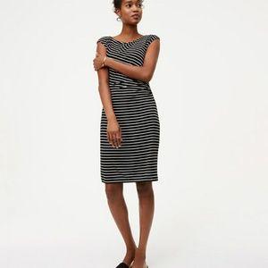 LOFT side shirred dress
