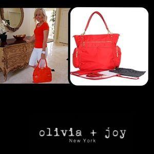 Olivia + Joy Handbags - 🦋Olivia+Joy❤️3pcPortiaBabyBag💄Tote💋Lipstick Red