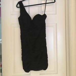 La Femme Dresses & Skirts - Black La Femme One Shoulder Dress
