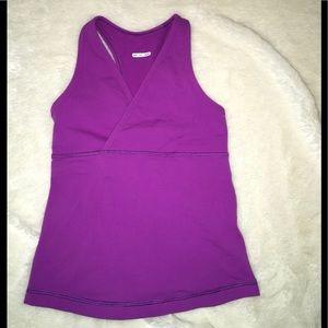 Lululemon Purple Athletic Racerback Tank Top Shirt